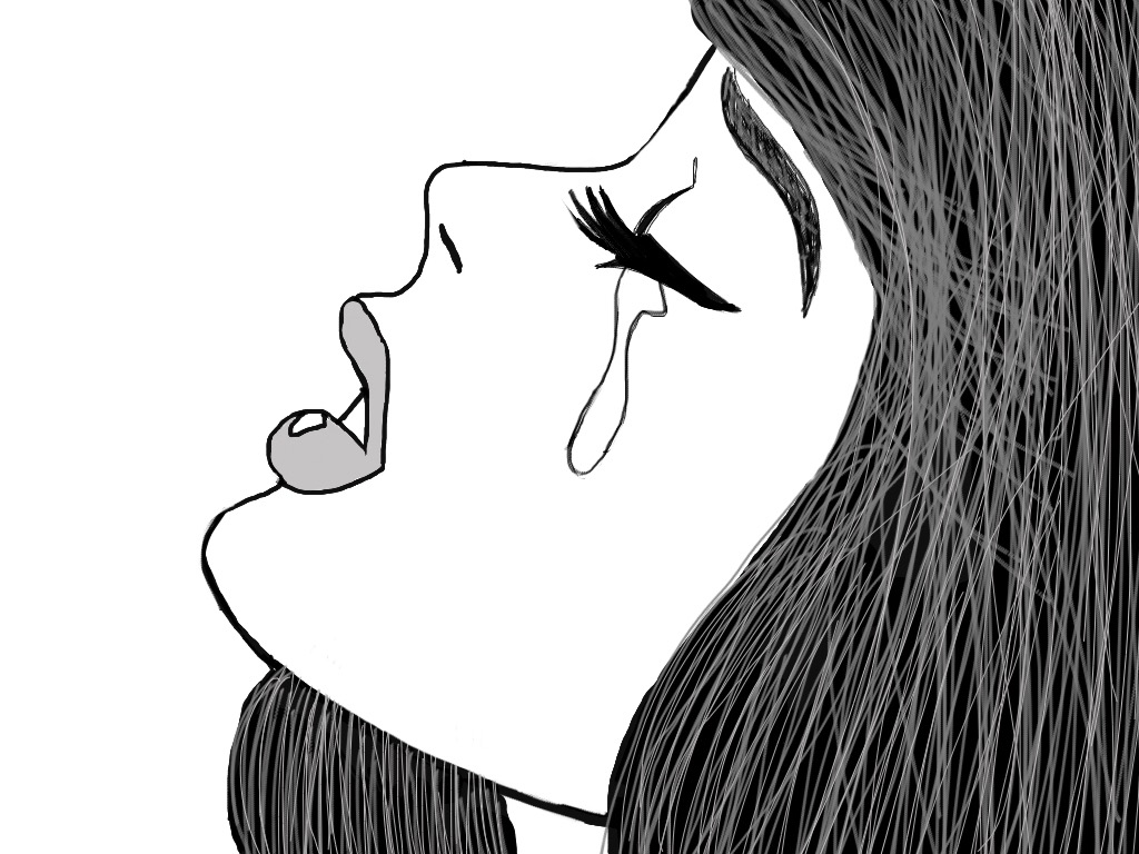Normal is Boring! • Trying out emotions… #drawing #drawings...  Drawing Of A Sad Girl Tumblr