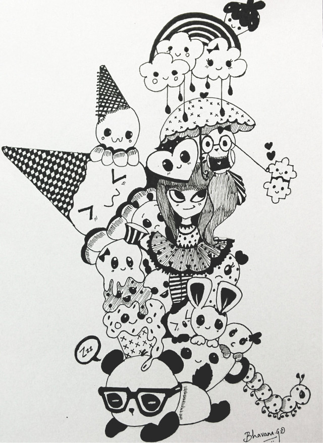 Doodling ;) #pencilart #doodle #art #cute #kawaii