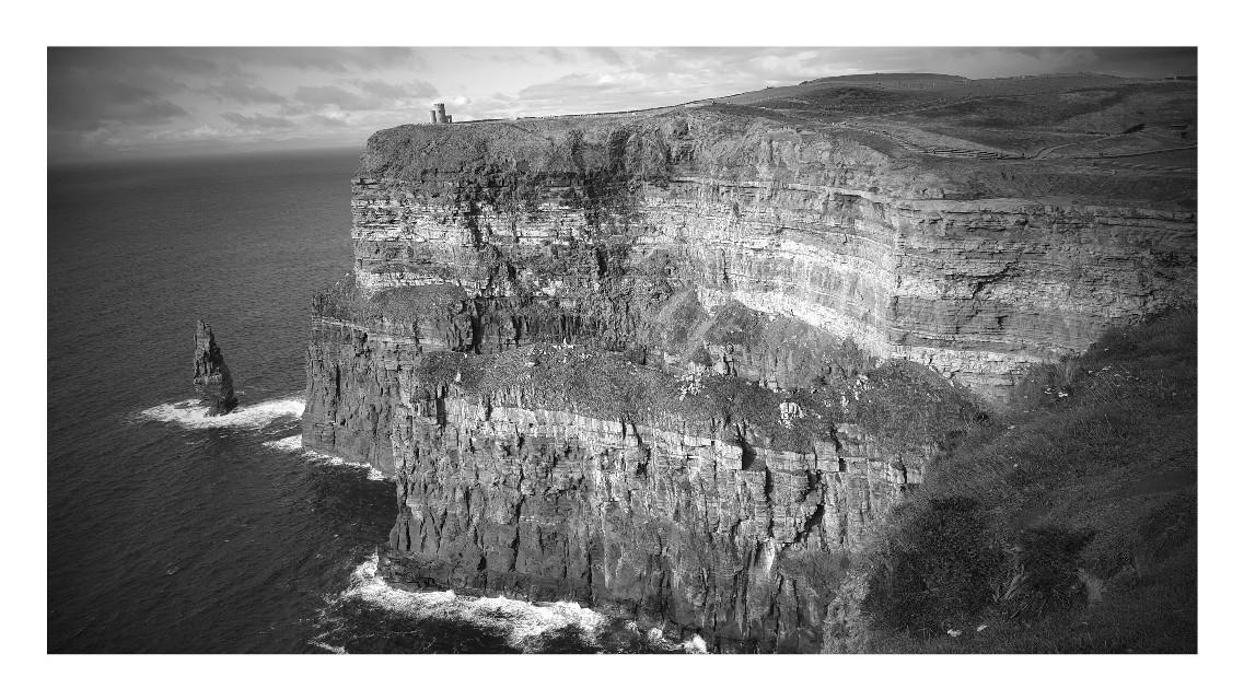 Cliffs of moher  #travel #nature #blackandwhite #Ireland #cliffsofmoher