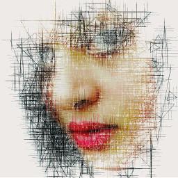 Artisticselfie retro emotions photography drawing madewithpicsart drawtools pencilart portrait emotion