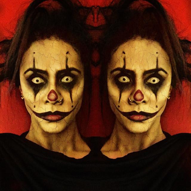Just clowning around   #halloween #clown #halloweenmakeup #halloweenmakeupideas #scary #scaryclown #zombie #zombiemakeup