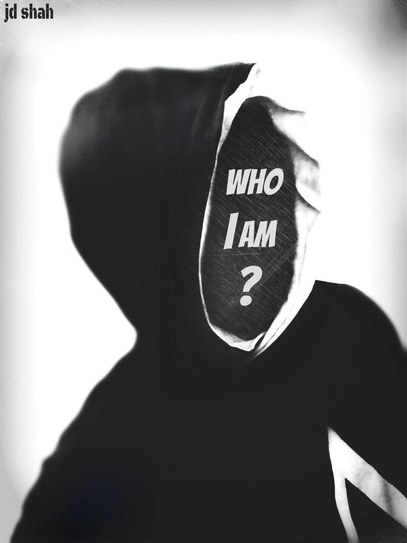#whoiam #text #blackandwhite #artistic