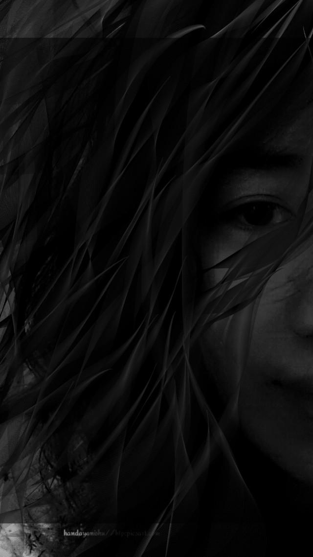 Edit for my beautiful frd @handayanishu ...hope you like it ❤️💜💜👍😊😊  #dark #beautiful #woman @handayanishu #portrait #pattern #hair