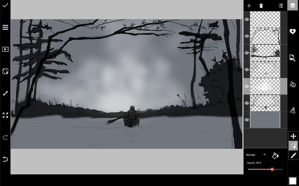 drawing fog