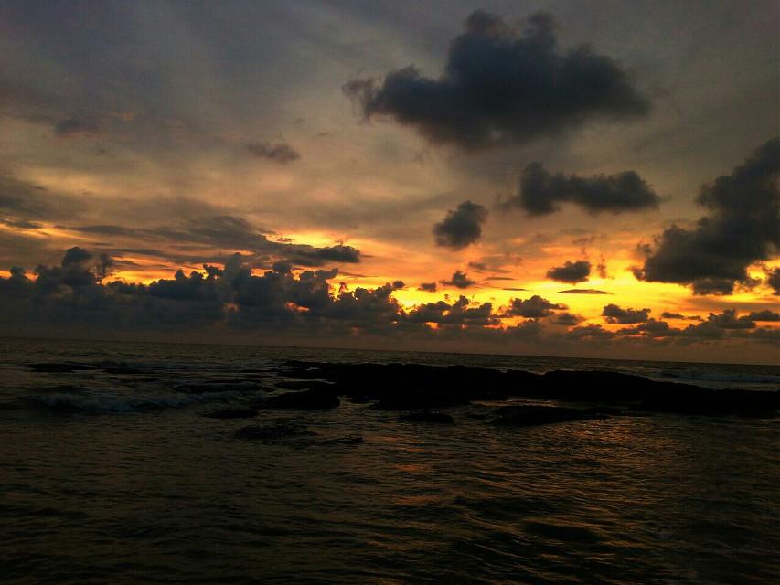 #sunset #beach #nature #photography #panorama #sun #sky #clouds