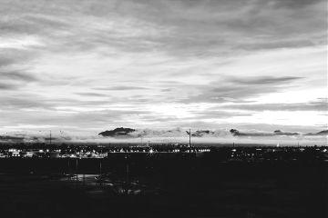 nature blackandwhite dramatic sunset