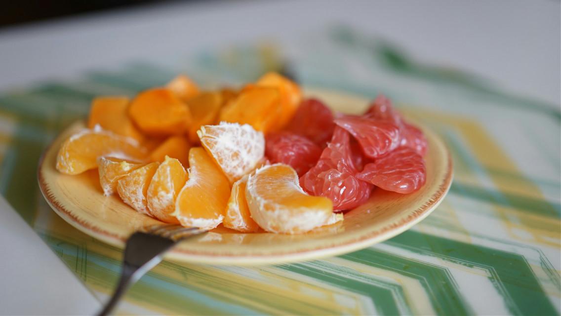 #colorful #food  #tangerines #grapefruit  #fruits