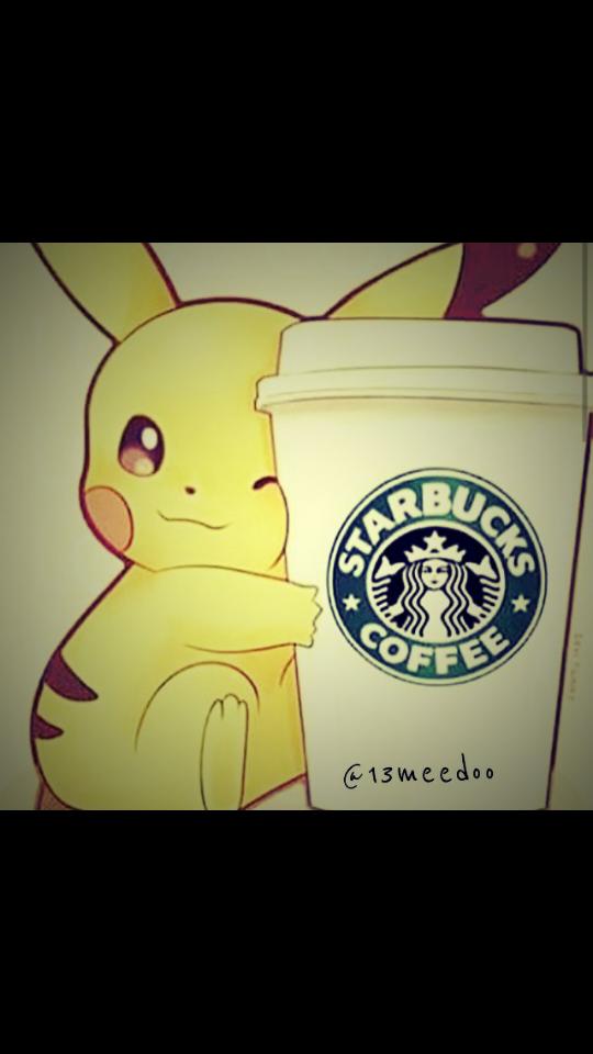 Top Pikachu Starbucks Cute Love Manga Anime Coffe