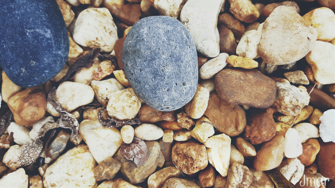 Gravel at my feet 😂😂😂 jk #Freetoedit #interesting #Raw #Rocks #Gravel #soothing #colorful