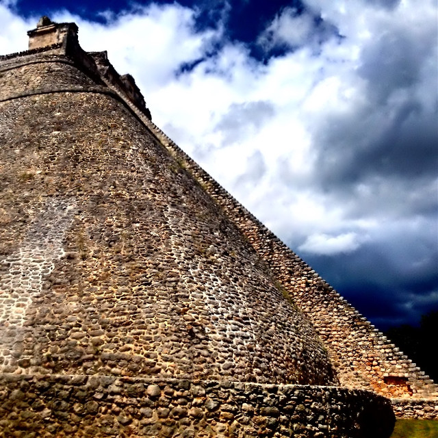 The Pyramid of the Magician at Uxmal. #uxmal #mexico #pyramid #travel #yucatan #