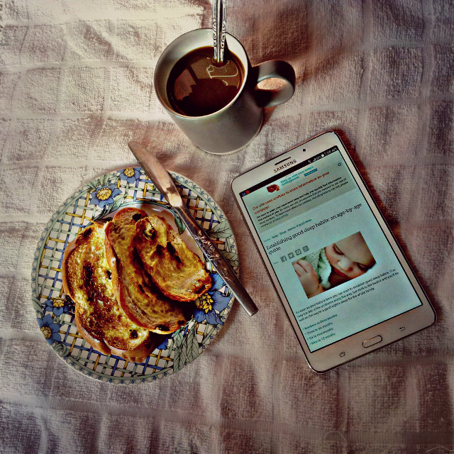 Good morning, good breakfast, have a good day 🍞☕🍴📱