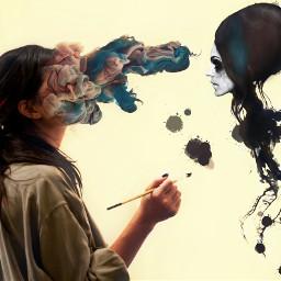 Antiselfie surreal artistic artisticselfie retro doubleexposure