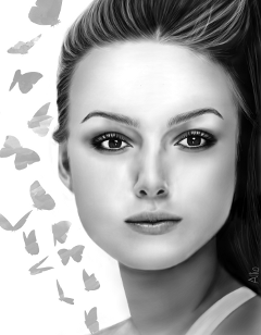 drawing portrait blackandwhite keira keiraknightley