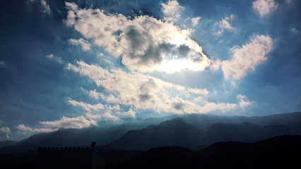 clouds sky beautiful blue nature