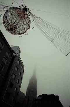 fog cityscape city travel winter