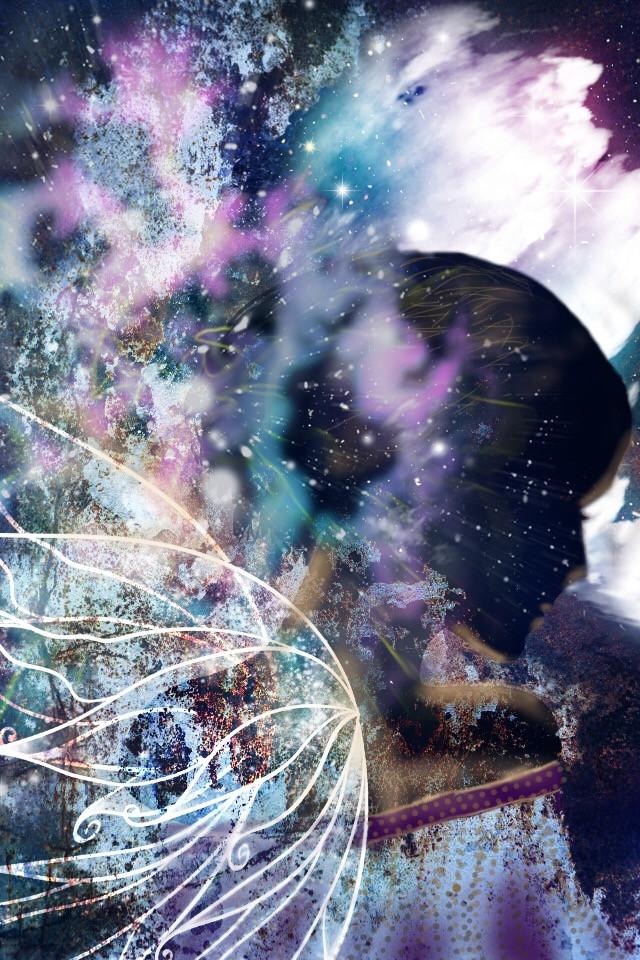 """Dreaming fairy"" #fairy #rust #stardust #drawon #winterfairy #drawing #darkfairy"