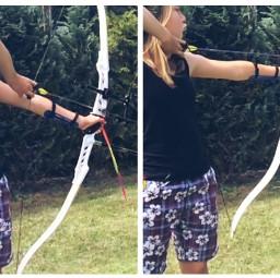 bebrave collage actioncollage bowandarrow archery