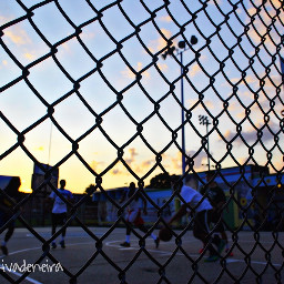 symmetry basketball game sunset philly
