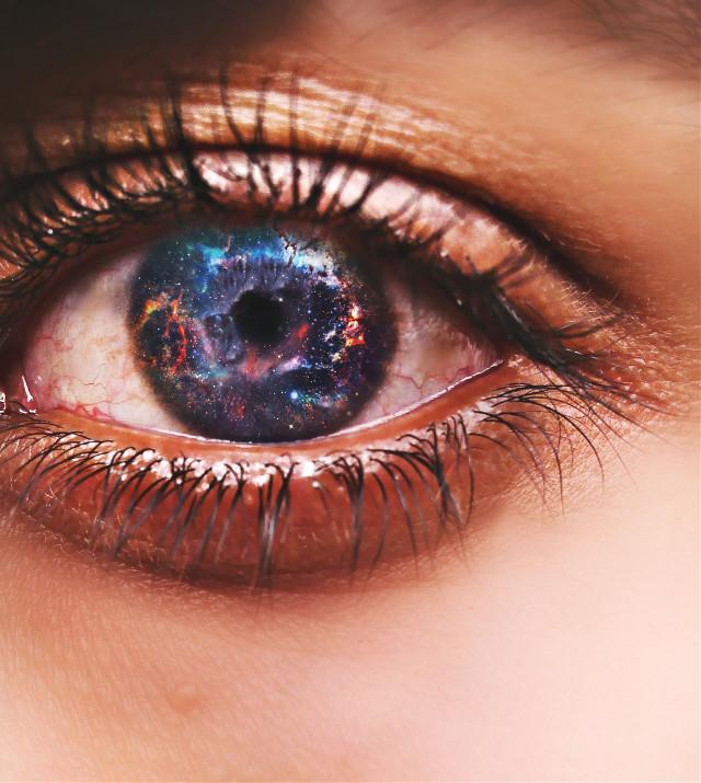 #Galaxy #eye #space #artistic #illusions