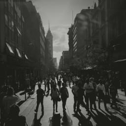 people city oneday wallking street