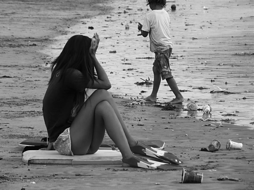 #blackandwhite  #people   #photography  #beach