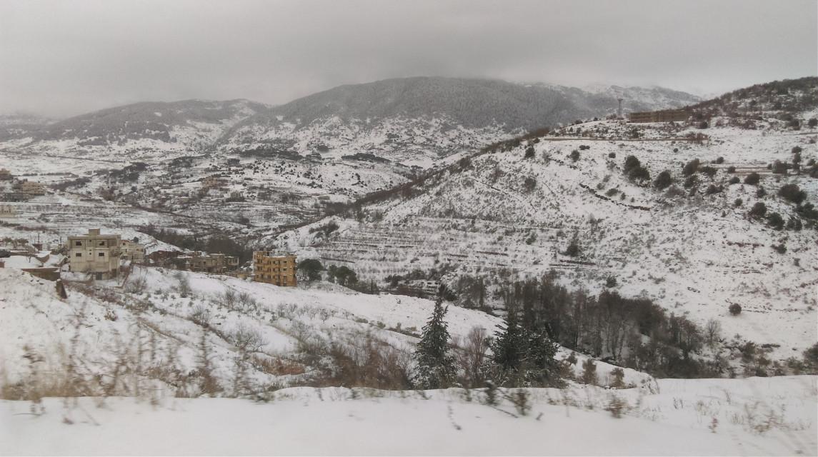 #snow #nature lebanon