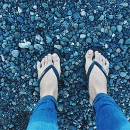 rocks feet