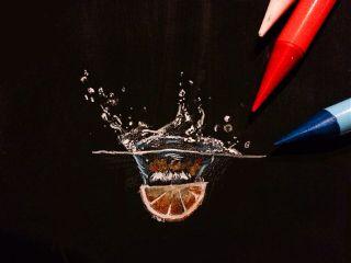 chaos water splash orange black
