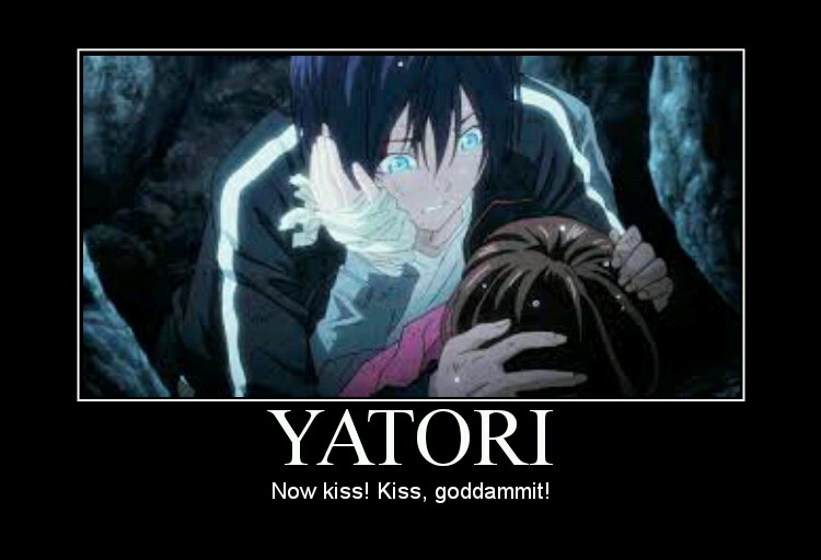 Why they don't kiss even !!?? #noragami_aragoto  #yato&hiyori  #yatori  #anime  ♡~♡