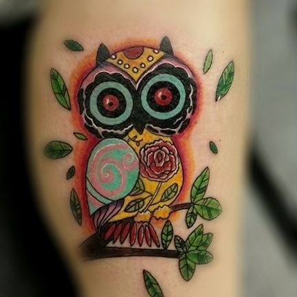 A Fun Lil Owl I Did Forever And A Day Ago Lol Owltattoo