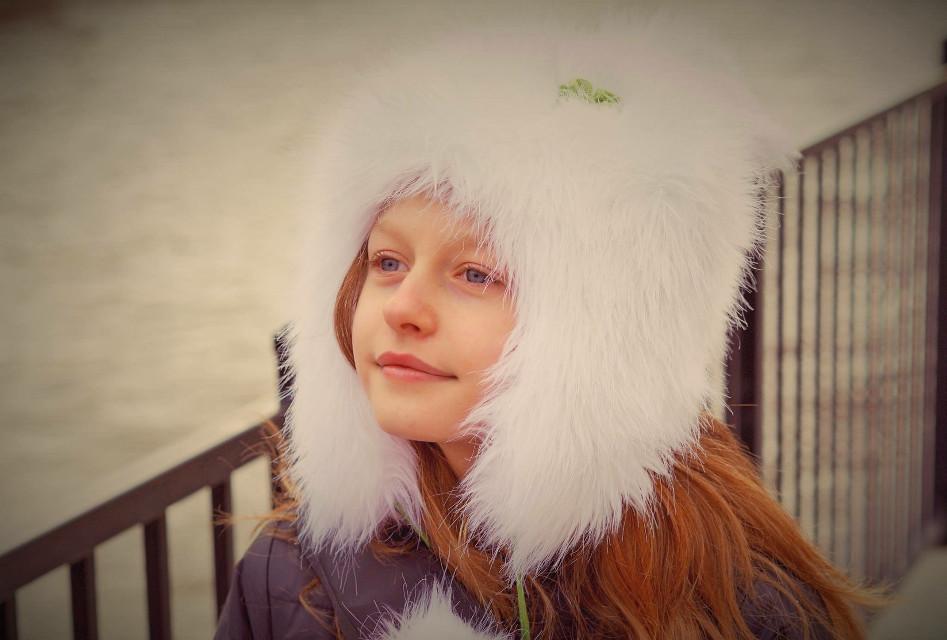 #winter #girl #lithuaniangirl #hat #freetoedit #portrait