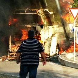 italia bus people огонь ужас