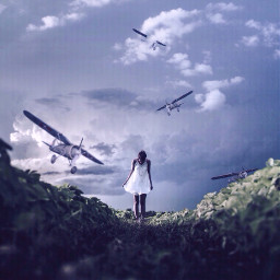 surreal putaplaneonit emotions people landscape flying plane surrealism sky