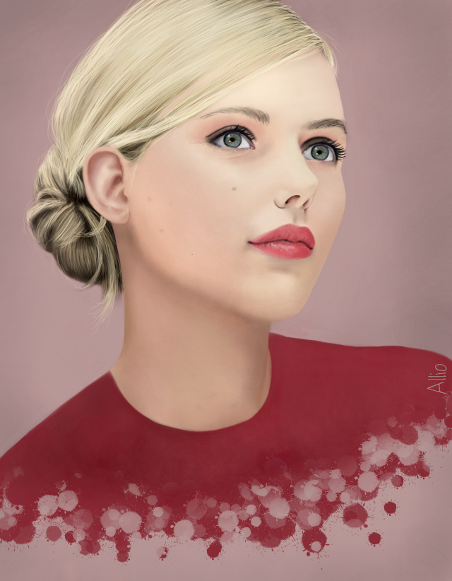 #WDPwomenportraits  'Scarlett Johansson' .watch the video on http://youtu.be/O_1-QkZIBVI Drawing made by me in Picsart, no effects. Reference used :)   #drawing   #scarlettjohansson  #portrait  #art   #red  #actress #fashion