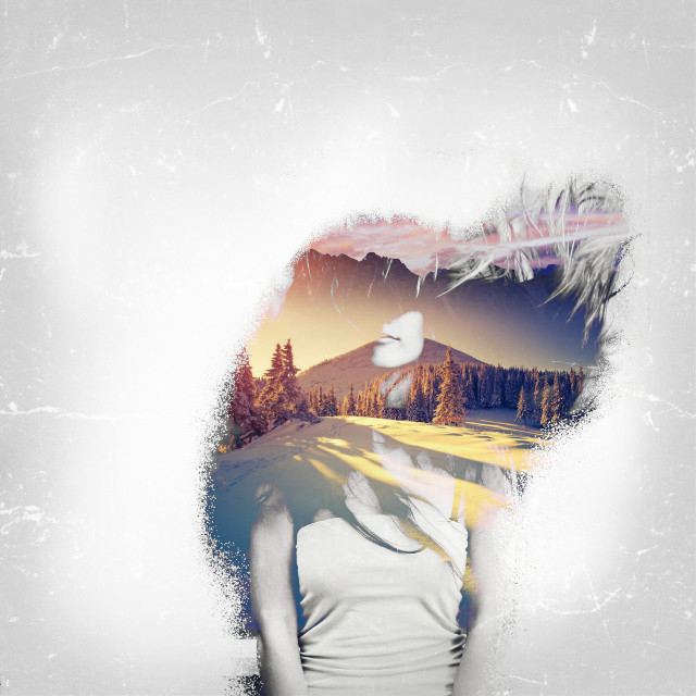The Girl of the Winter Inspired by @ash1on and original picture by @grig15 Hope you like my work: @paolomore #blackandwhite #snow #nature #doubleexposure #popart #freetoedit #madewithpicsart  :)