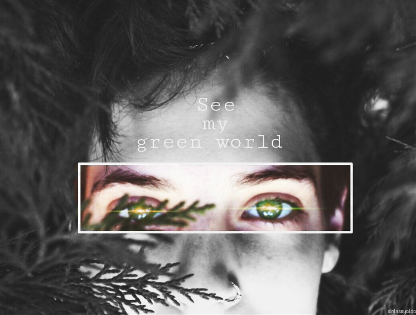 See my green world...  #eyes #freetoedit  #edited  #green  #quotesandsayings  #dream #eye @pa thank you very much for choosing my pic as best of 🙌🎉🌹💕💐✨