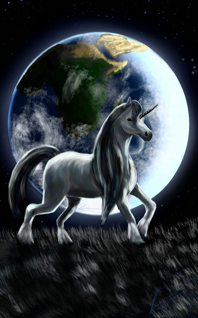 #wdpearth #Lunar #wdpunicorn #drawing #earth #mythical #fantasy  http://youtu.be/HuQz6sqEE7U There is no limit to imagination...lets take a trip over the horizon, where reality meets fantasy Happy birthday @dharmagraf  love you sweetheart
