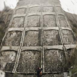 wall girl giant conceptual movement
