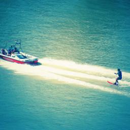 water blue sport fun waterski