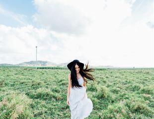 freetoedit portrait girl field green