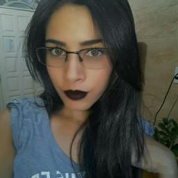 glasses blacklipstick