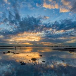 sunrise skyline reflection beachphotography photography