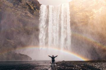 freetoedit nature rainbow waterfall water