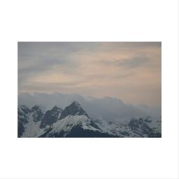 mountains sky view colorful whiteborder
