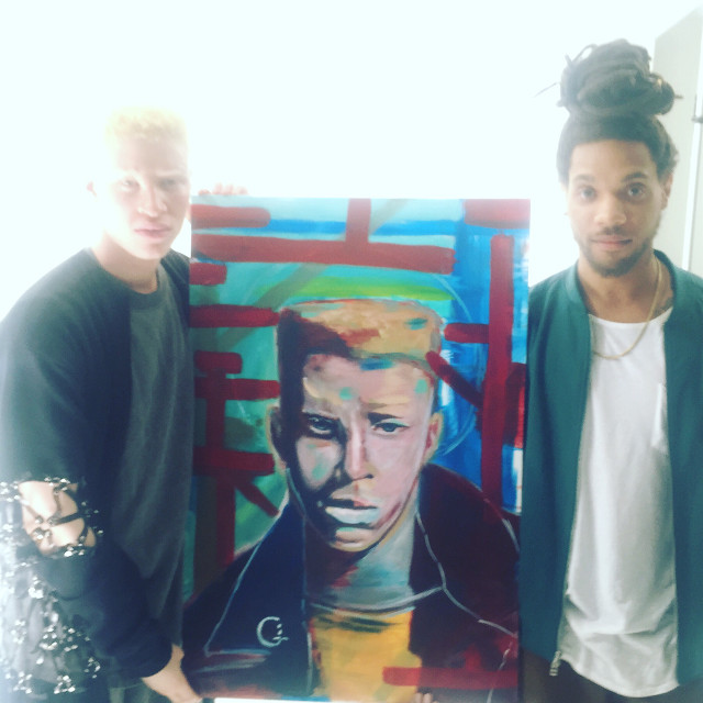 Oh yes I am a #painter #nyc #interesting #artist #model #shaunross