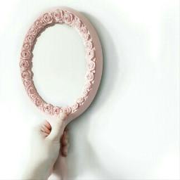 freetoedit minimal mirror pink white