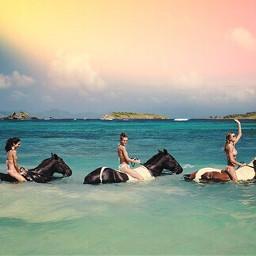 TBT summer holydays sea bestfriends girls sisters horses animals passion equestrian riding art photography bestphoto followme likeforlike bye