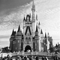 japan disney blackandwhite