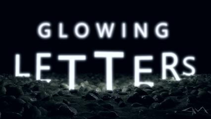 tutorial editstepbystep glowingtext letters