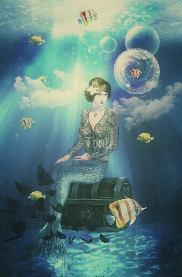#FreeToEdit  #edited #graphicdesign #fish #mermaid